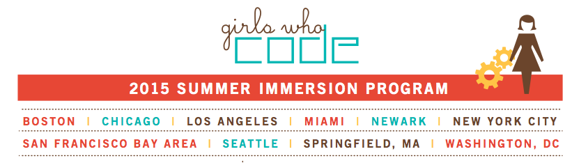 Girls Who Code Summer Immersion Program 2015