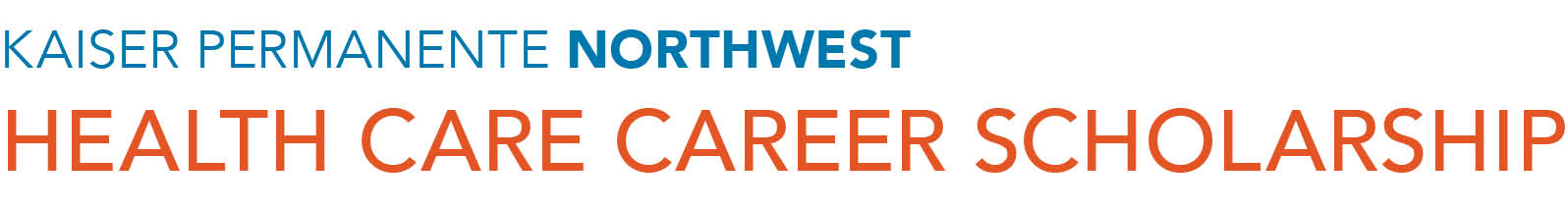 Kaiser Permanente Health Care Career Scholarship Program logo