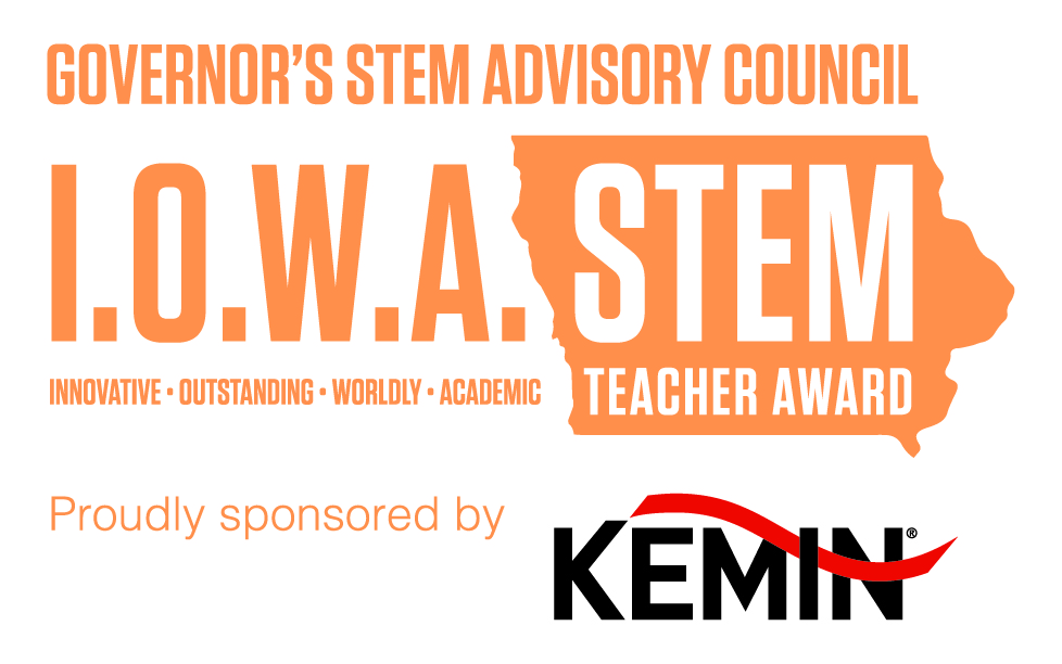 I.O.W.A. STEM Teacher Award logo